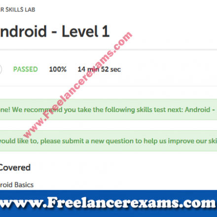 Android Development Level 1