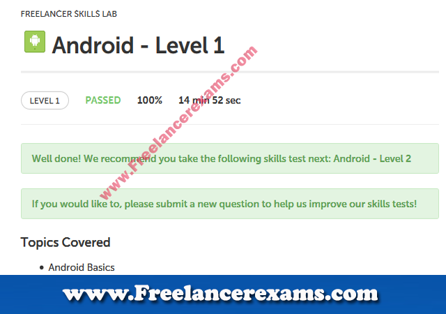Android Level 1