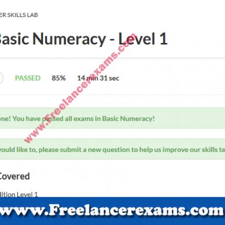 Basic Numeracy Level 1