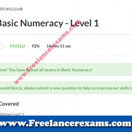 Basic Numeracy Level 1