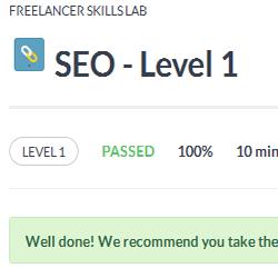 SEO Level 1