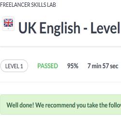 UK English Level 1