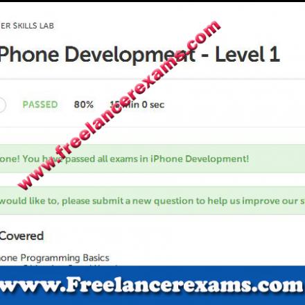 Iphone Development Level 1