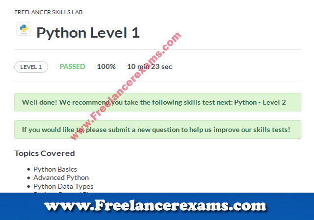 Python Level 1