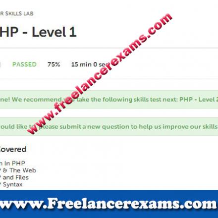 PHP Level 1