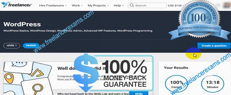 Freelancer WordPress Exam with good result